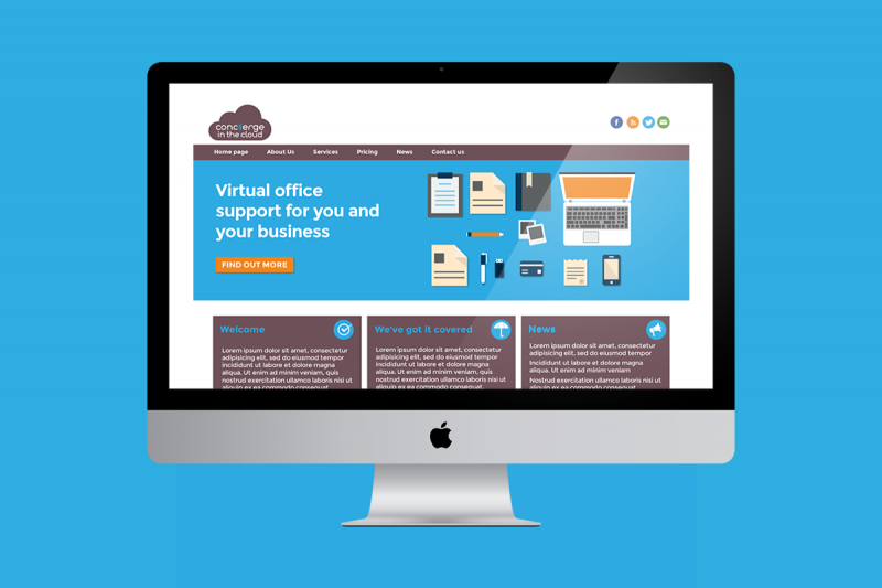 Website development for Concierge in the Cloud, a virtual support company.