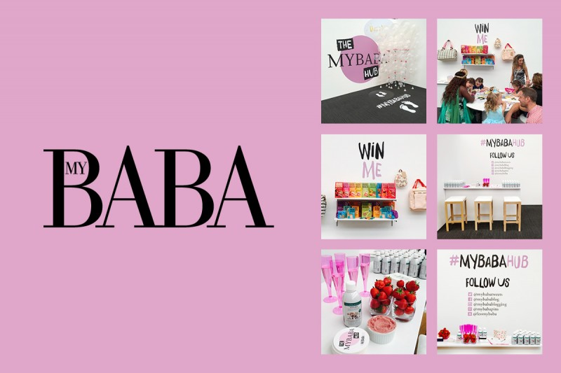 Event design for My Baba for their stand at Bubble London.