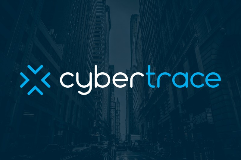 Logo and identity design for Cybertrace, a company that assists individuals and organisations targeted by malicious email.