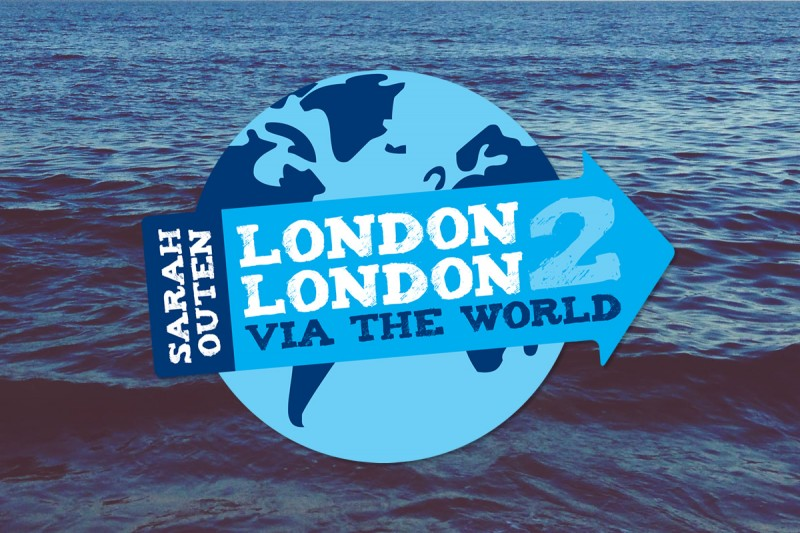 Logo design for Sarah Outen's London2London expedition. Sarah Outen MBE FRGS is an athlete and adventurer. She was the first woman and the youngest person to row solo across the Indian Ocean and also the Pacific Ocean from Japan to Alaska.