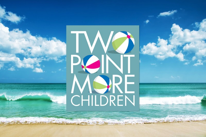 Logo design for Two Point More Children, an online travel company.