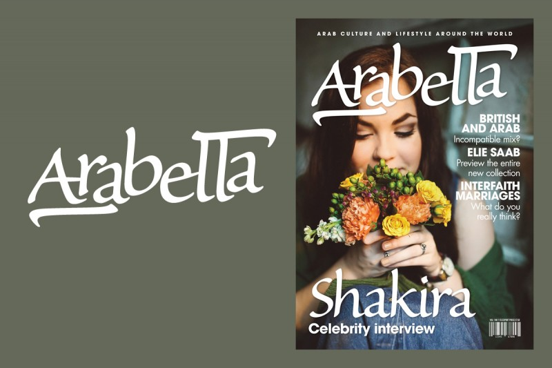 Masthead design and art direction for Arabella, a magazine title for Middle Eastern women.