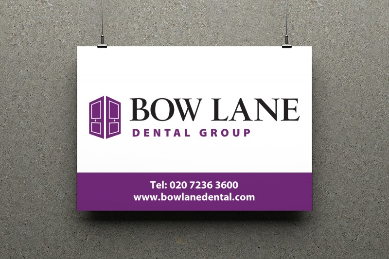 Identity design for the Bow Lane Dental Group, one of the UK's leading dental practices.