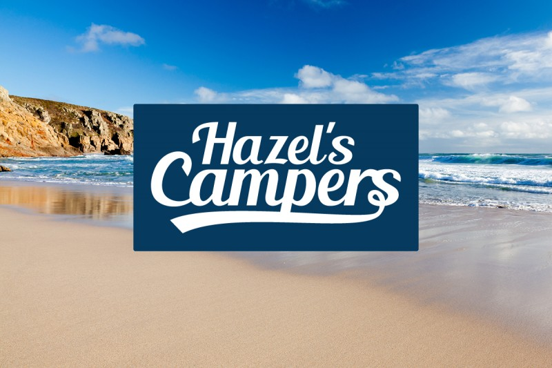 Logo design for Hazel's Campers, a luxury VW hire company.