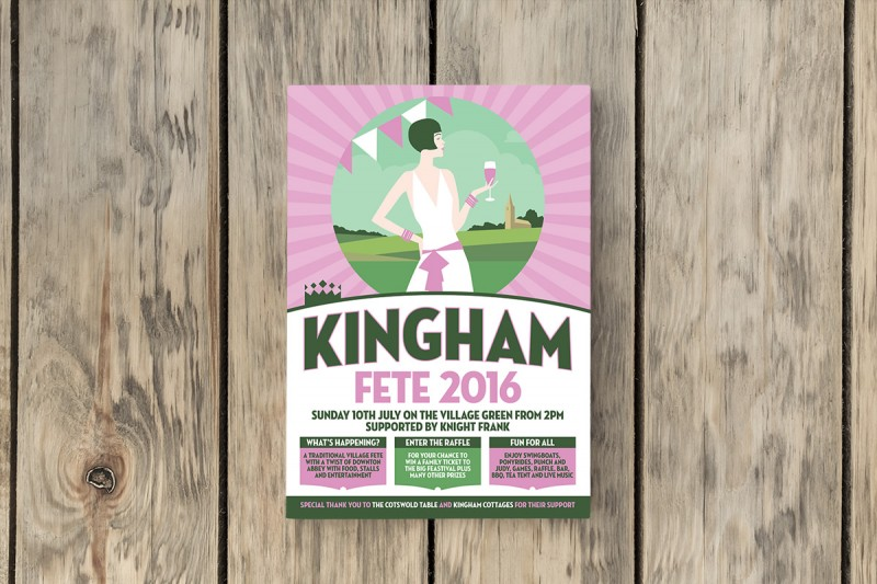 Graphic design and illustration for Kingham Events.