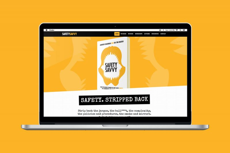 Website design and development for Safety Savvy by Andrew Sharman.