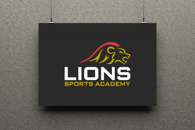 Identity design for Lions Sports Academy.