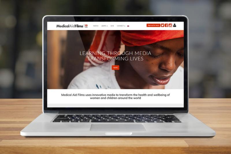 Website design and development for Medical Aid Films, a UK charity who create educational teaching videos.