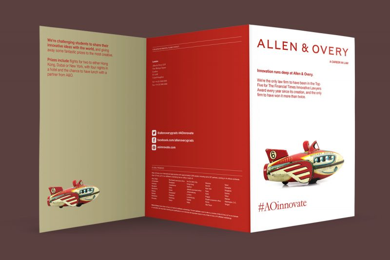 Graduate marketing leaflet for Allen and Overy.
