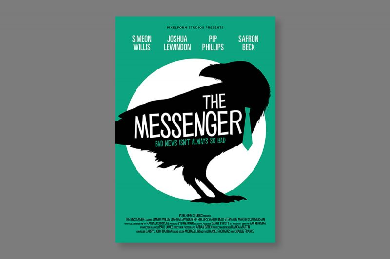 Poster design for The Messenger, a short film produced in the UK.