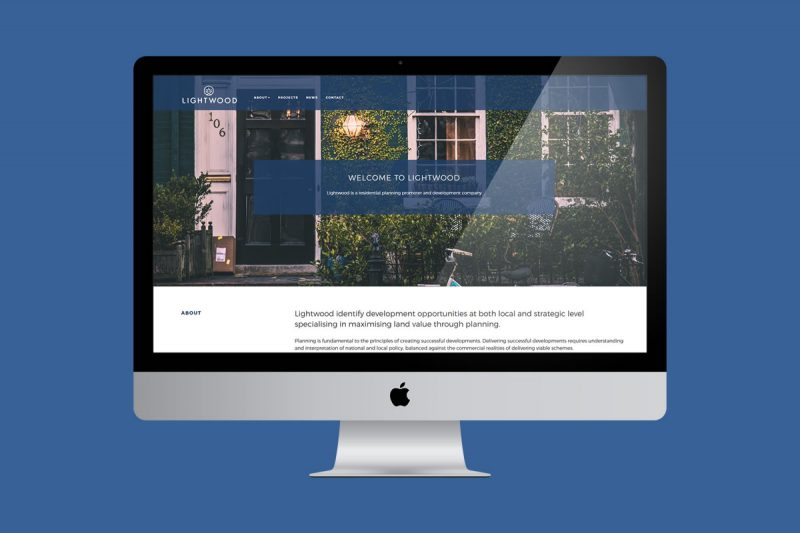 Website design for a property development group.
