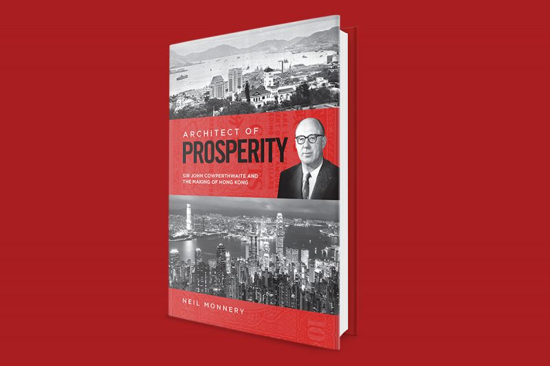 Book cover design for Neil Monnery's Architect of Prosperity.