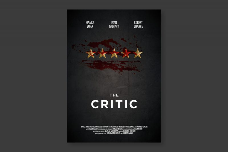 Poster design for The Critic, a short film produced in the UK.
